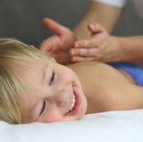 Child massage. Toddler massage. Massage for children.
