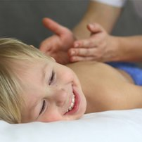 Child massage. Massage for children. Pediatric massage.